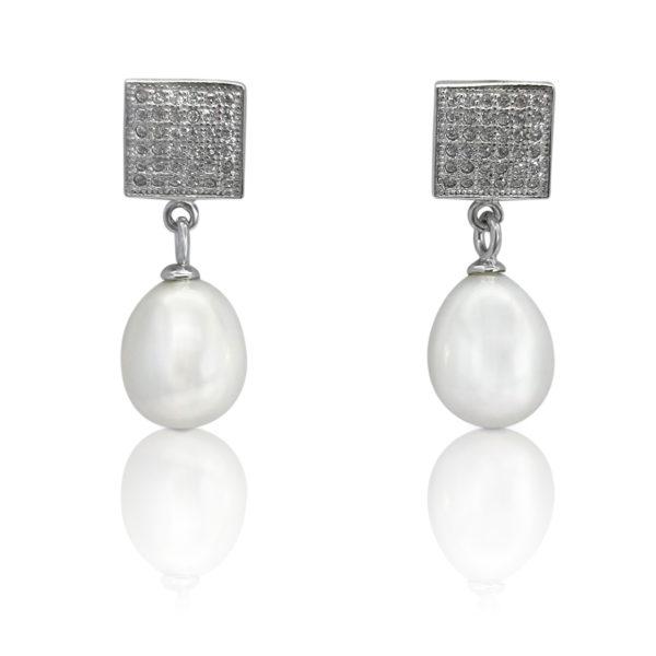 Lullu Bridal pearl earrings