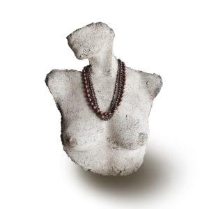 Purple Rain Multi-strand purple Pearl Necklace by Lullu luxury pearl jewellery