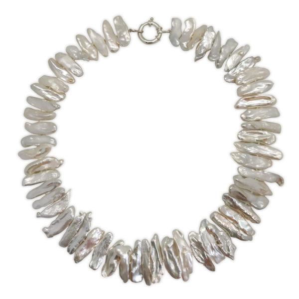 Milky Way Biwa Pearl Necklace | Lullu Luxury Pearl Jewellery