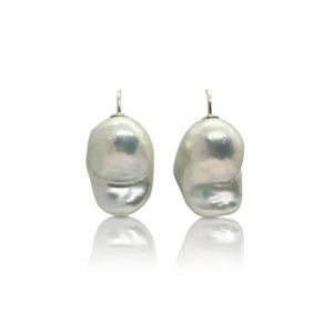 Raw Baroque Pearl Drop Earrings 9ct Gold | Lullu Luxury PearlJewellery