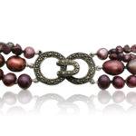 Purple Rain Multi-Strand Pearl Necklace | Lullu Luxury Pearl Jewellery