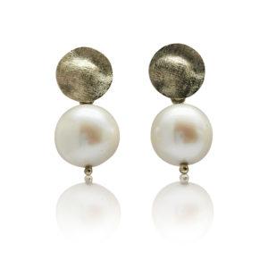 Gold Coin Pearl Drops | 13-14mm AAA | 9ct Gold | Lullu