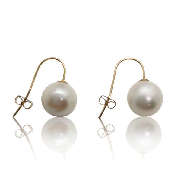 AAA Freshwater Pearl Drop Earrings | Gold | Lullu Luxury Pearl Jewellery