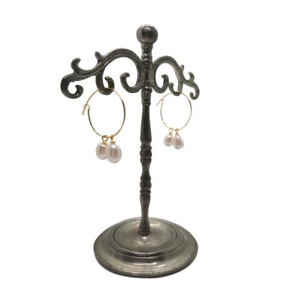 Silky Gold earl Hoop Earrings | Lullu Luxury Jewellery