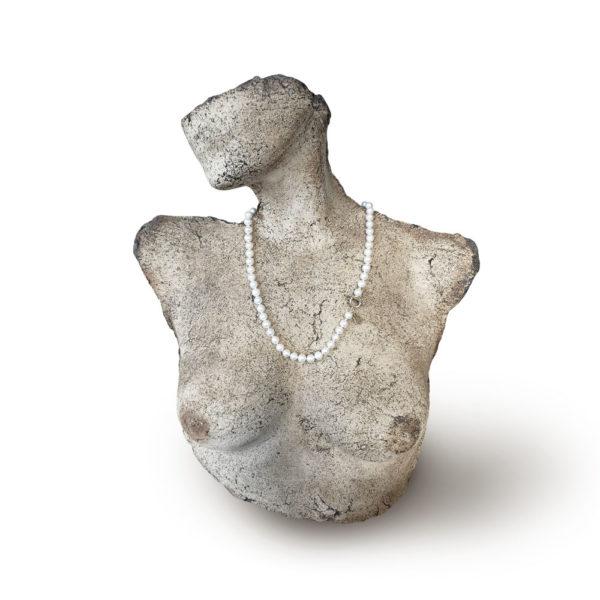 Bianca Classic Pearl String Necklace   Small   Lullu Luxury Pearl Jewellery