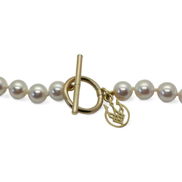 Japanese Saltwater Akoya Pearl 14ct Gold Necklace   Lullu Pearl Jewellery