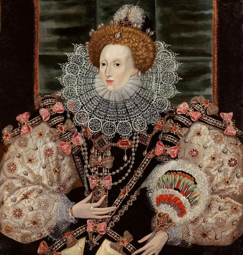Portrait of Elizabeth I wearing Pearl Jewellery
