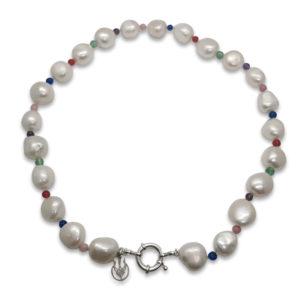 Euphoria Pearl & Semi-Precious Stone Necklace   Lullu South Africa