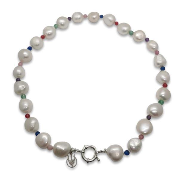Euphoria Pearl & Semi-Precious Stone Necklace | Lullu South Africa